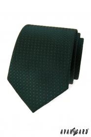 Sötétzöld nyakkendő fényes mintával