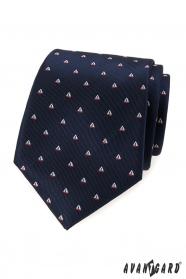 Kék nyakkendő, minta vitorlás