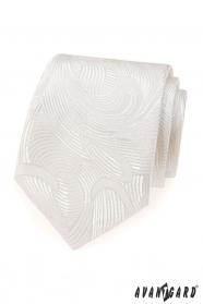Krémszínű nyakkendő LUX