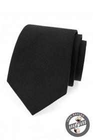 Fekete pamut férfi nyakkendő