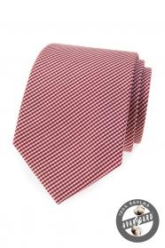 Pamut nyakkendő bordó csíkkal