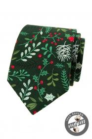 Zöld karácsonyi nyakkendő