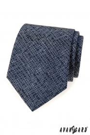 Sötét kék nyakkendő, modern mintával