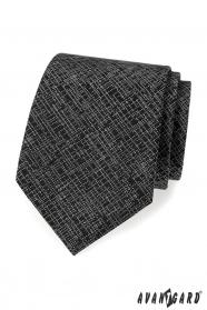 Fekete férfi nyakkendő, fehér mintával
