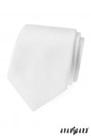 Fehér, strukturált nyakkendő Avantgard Lux
