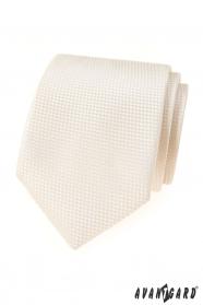 Krémes strukturált nyakkendő Avantgard Lux