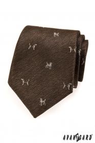 Barna nyakkendő kutyával