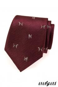 Bordó színű nyakkendő Kutya