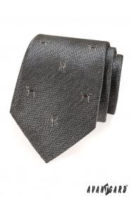 Szürke nyakkendő kutyával