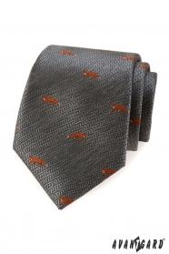 Szürke nyakkendő narancs róka