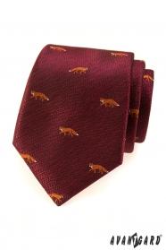 Bordó nyakkendő - róka