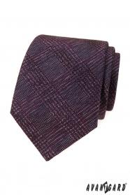 Férfi nyakkendő bordó mintával