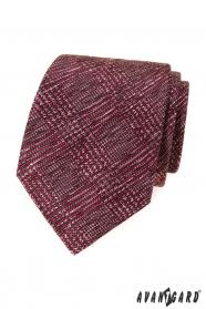 Férfi nyakkendő vörös-szürke mintával