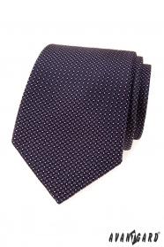 Férfi nyakkendő lila négyzetekkel