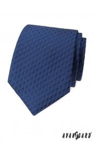 Kék nyakkendő 3D-s mintával