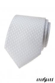 Világosszürke nyakkendő 3D-s mintázattal