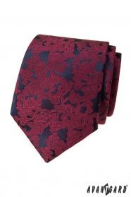 Férfi nyakkendő bordó motívummal