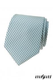 Menta nyakkendő kék mintával