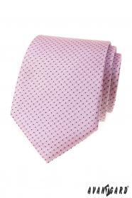 Rózsaszín nyakkendő finom kék mintával