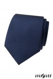 Sötétkék nyakkendő texturált felülettel