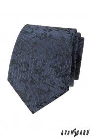 Kék mintás nyakkendő mintával