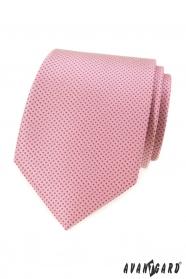 Rózsaszín nyakkendő kis pöttyökkel