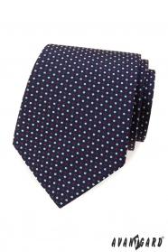Kék nyakkendő színes pöttyös