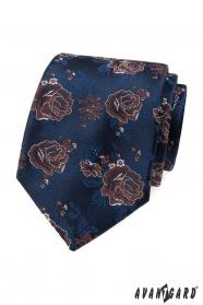Kék nyakkendő, vörös rózsák