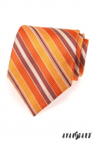 Narancssárga csíkos férfi nyakkendő 70201