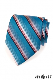 Kék csíkos férfi nyakkendő