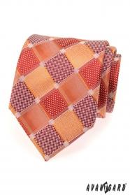 Férfi nagy vörös kocka nyakkendő