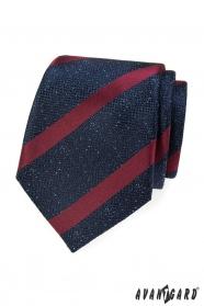 Kék mintás nyakkendő, boroscsíkkal