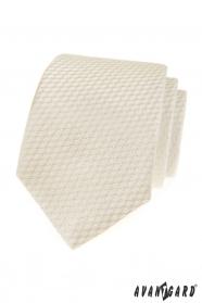 Csíkos krém szerkezetű nyakkendő