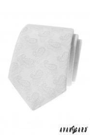 Fehér nyakkendő, Paisley mintával
