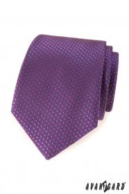 Lila nyakkendő kék pöttyös