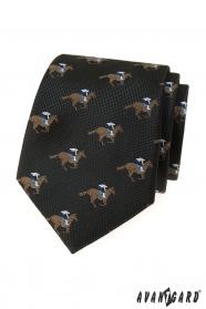 Fekete nyakkendő, versenyló