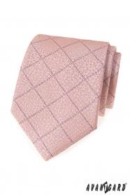Por rózsaszín nyakkendő, lila csíkokkal