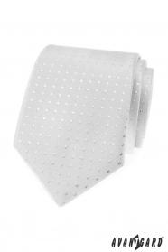 Ezüst nyakkendő négyzetekkel