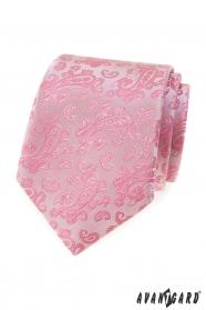 Rózsaszín nyakkendő Paisley mintával