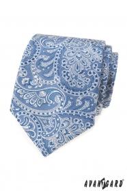 Világoskék nyakkendő paisley motívummal