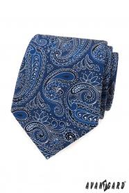 Nyakkendő kék-fehér paisley mintával