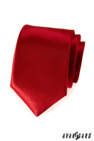 Sima férfi piros nyakkendő
