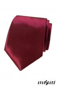 Egyszínű férfi nyakkendő bordóban