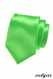 Férfi nyakkendő, zöld fényes