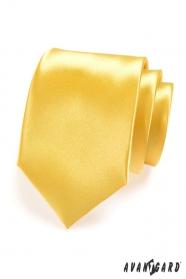 Férfi sárga nyakkendő, fényes