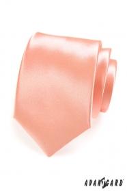 Gyengéd csillogós lazacszínű férfi nyakkendő