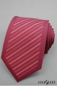 Férfi lila nyakkendő csíkkal