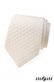 Gyengén mintázott nyakkendő csontszín