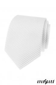 Fehér férfi nyakkendő csíkokkal
