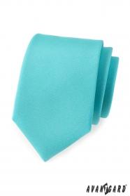 Férfi nyakkendő türkiz matt
